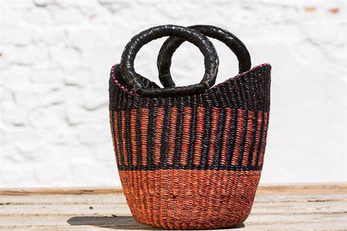 U-shape mini basket Brun