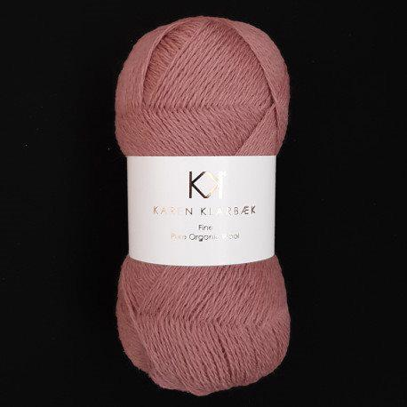Fine Pure Organic Wool 2501 Dark rose