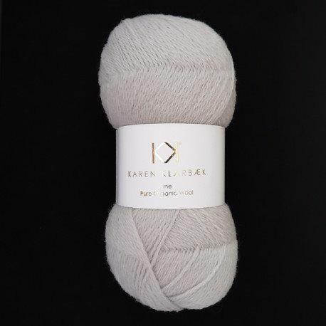 Fine Pure Organic Wool 2507 Light cool grey