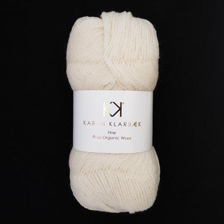 Fine Pure Organic Wool 2506 Nature white